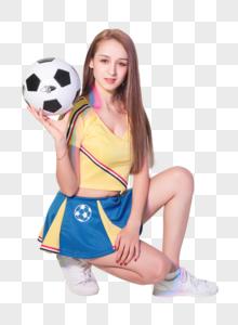 活力少女足球宝贝形象图片