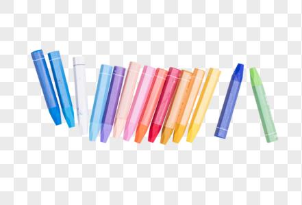 教育设计蜡笔平铺创意拍摄图片