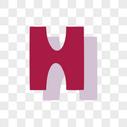 卡通英文H字体设计图片