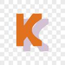 卡通英文K字体设计图片