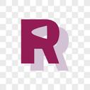 卡通英文R字体设计图片