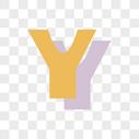 卡通英文Y字体设计图片