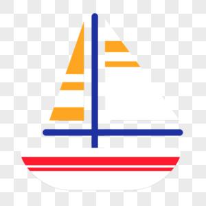 白色帆船图片
