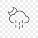 夜晚雨图标图片