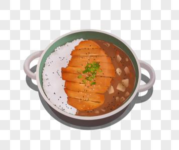 咖喱鸡排饭图片