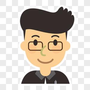 戴眼镜男孩头像图片