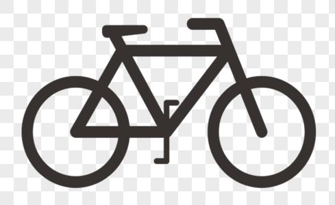 黑色线条自行车图标图片