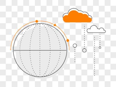 线条球体 云图片