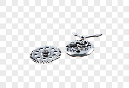 各种尺寸不同直径和形状的金属齿轮图片