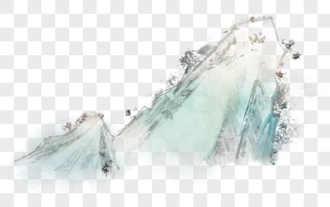 国画山水水墨素材图片