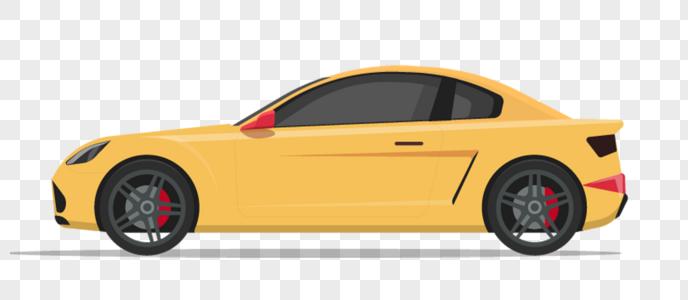 黄色汽车图片