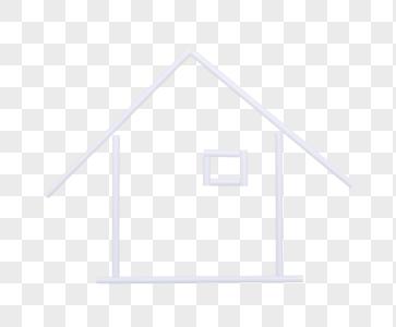 黄色背景上的简易房子图片