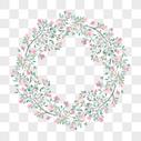 手绘小清新绿叶装饰图片
