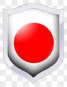 手绘红色圆形盾牌标签图片