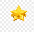 手绘创意金色五角星图片