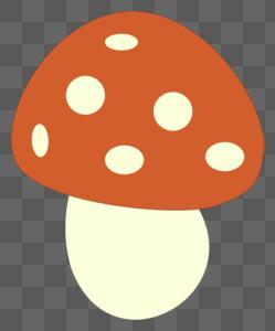 红点点蘑菇图片
