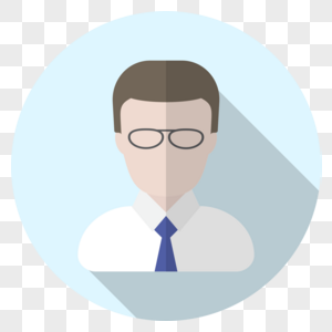戴眼镜男士头像图标图片