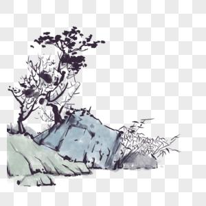 山石花草图片