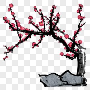 梅花山石图片