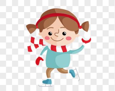 小女生玩雪球图片