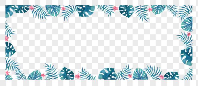 手绘热带叶子图片