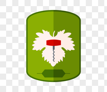 水彩绿色盾牌标签图片