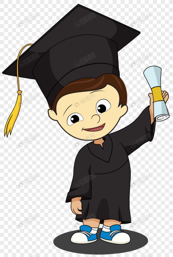 男孩穿着学士服图片