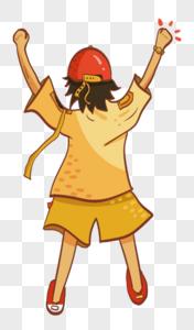 红帽子小男孩图片