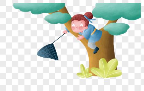 树上的人物图片