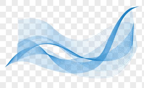 蓝色线条图片
