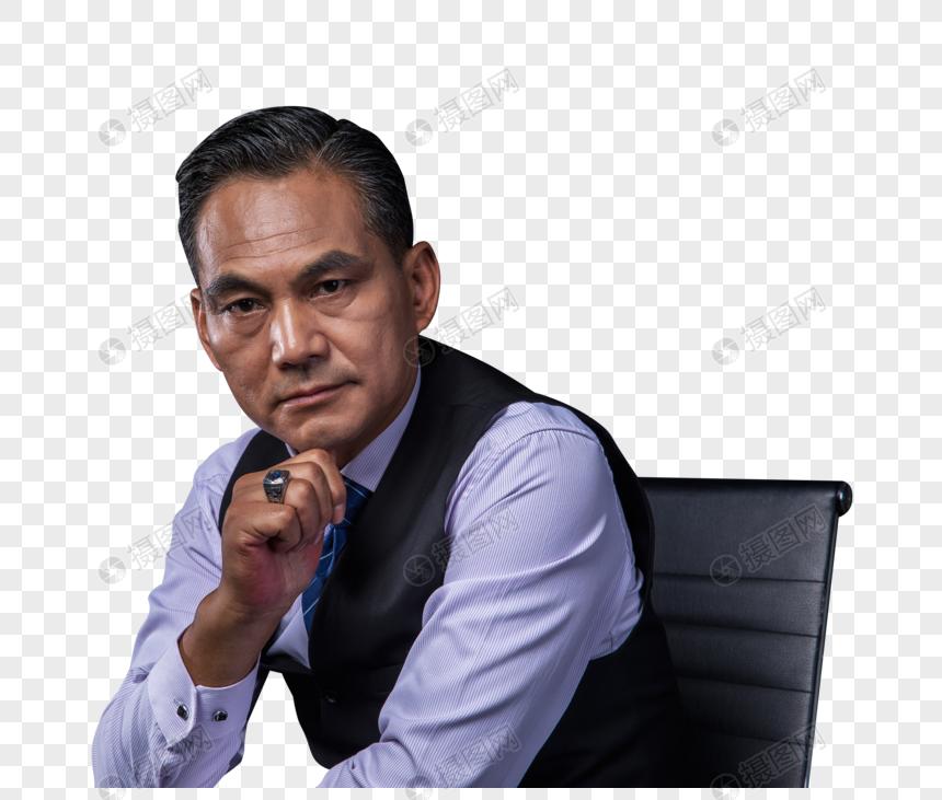 中年商务成功人士坐姿图片