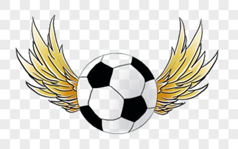 带翅膀的足球图片