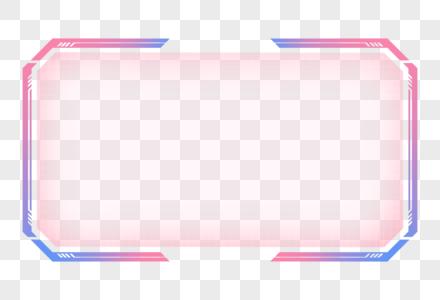 发光现代几何科技边框图片
