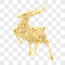 奔跑的圣诞鹿图片