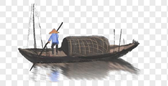 渔船渔翁图片