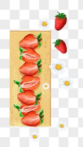 木板草莓图片