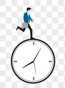 商务办公时间赛跑图片