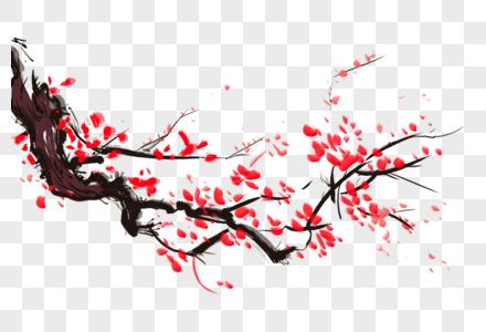 古典水墨梅花图片