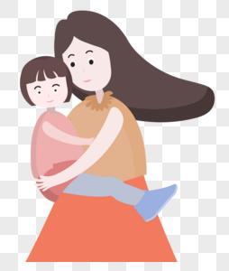 一对母女图片