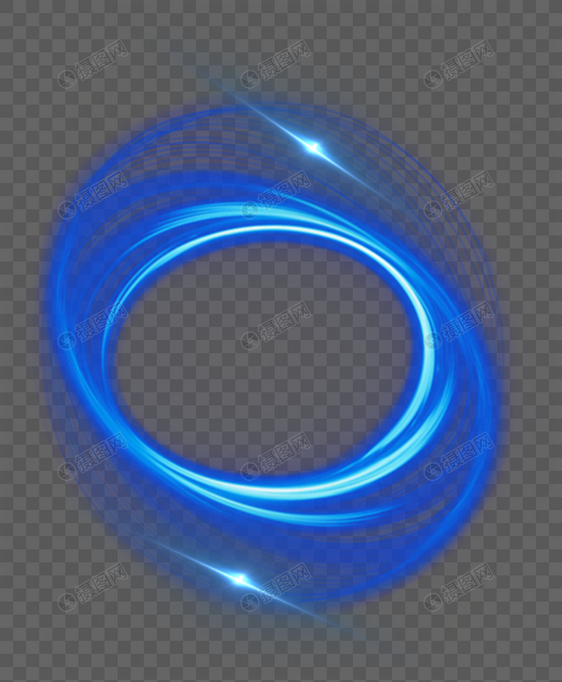 蓝色光圈效果素材