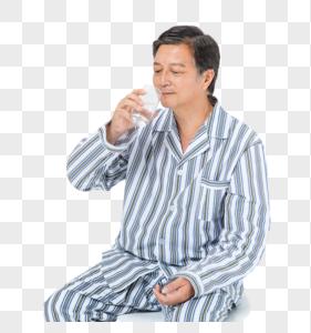老人生病吃药图片
