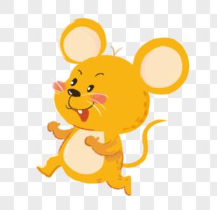 可爱黄色小老鼠图片