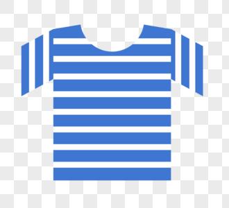 蓝色条纹衫图片