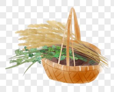竹篮艾草图片