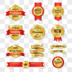 金色优质产品标签徽章图片