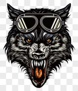 戴墨镜的恶狼图片