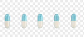 各种颜色彩色的药片和胶囊图片