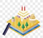 2.5D蛋糕房图片