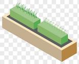 2.5D绿化带图片