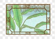 窗外绿植图片